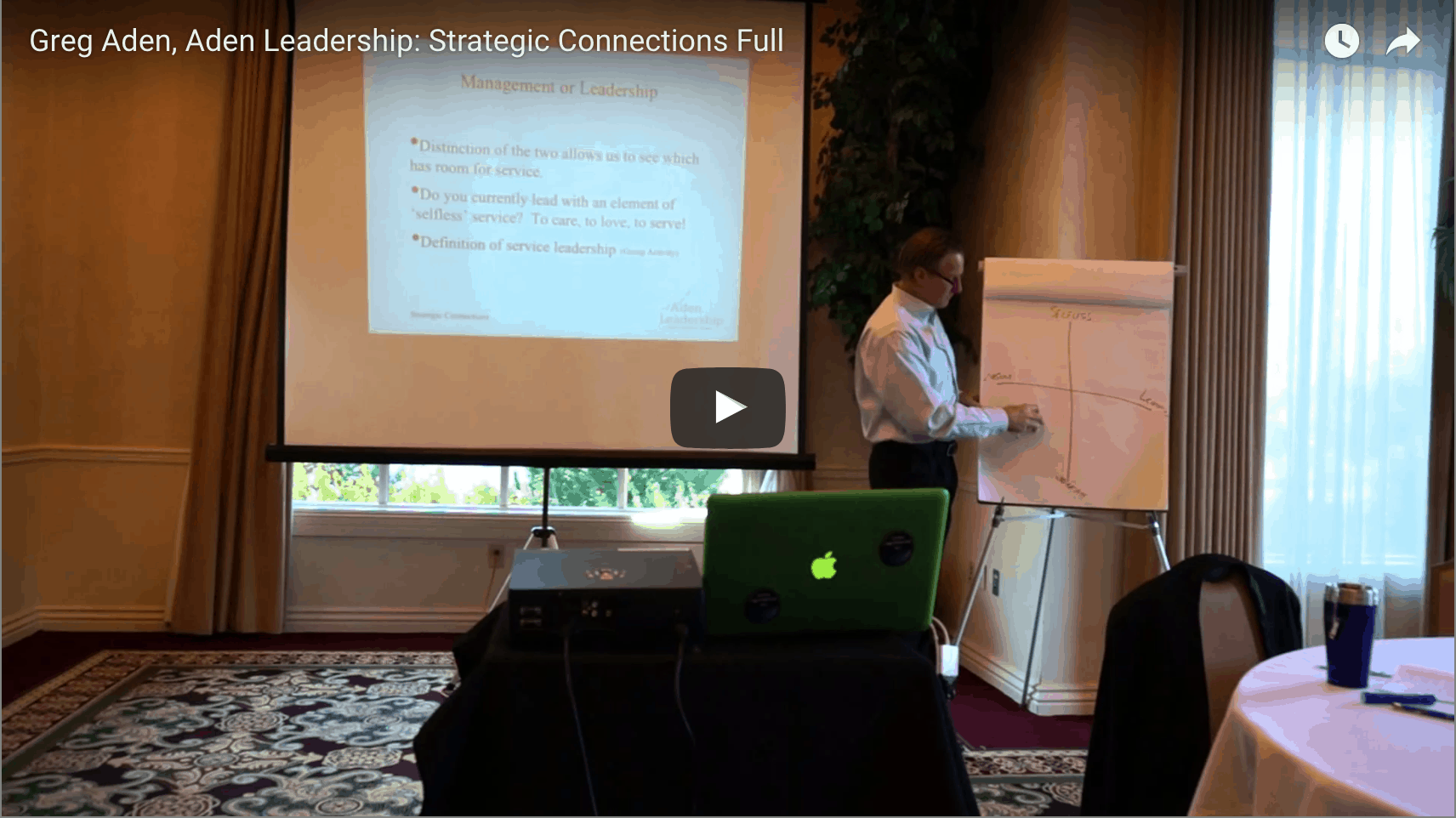 [VIDEO] Introducing Servant Leadership to Strategic Connections Networking Group