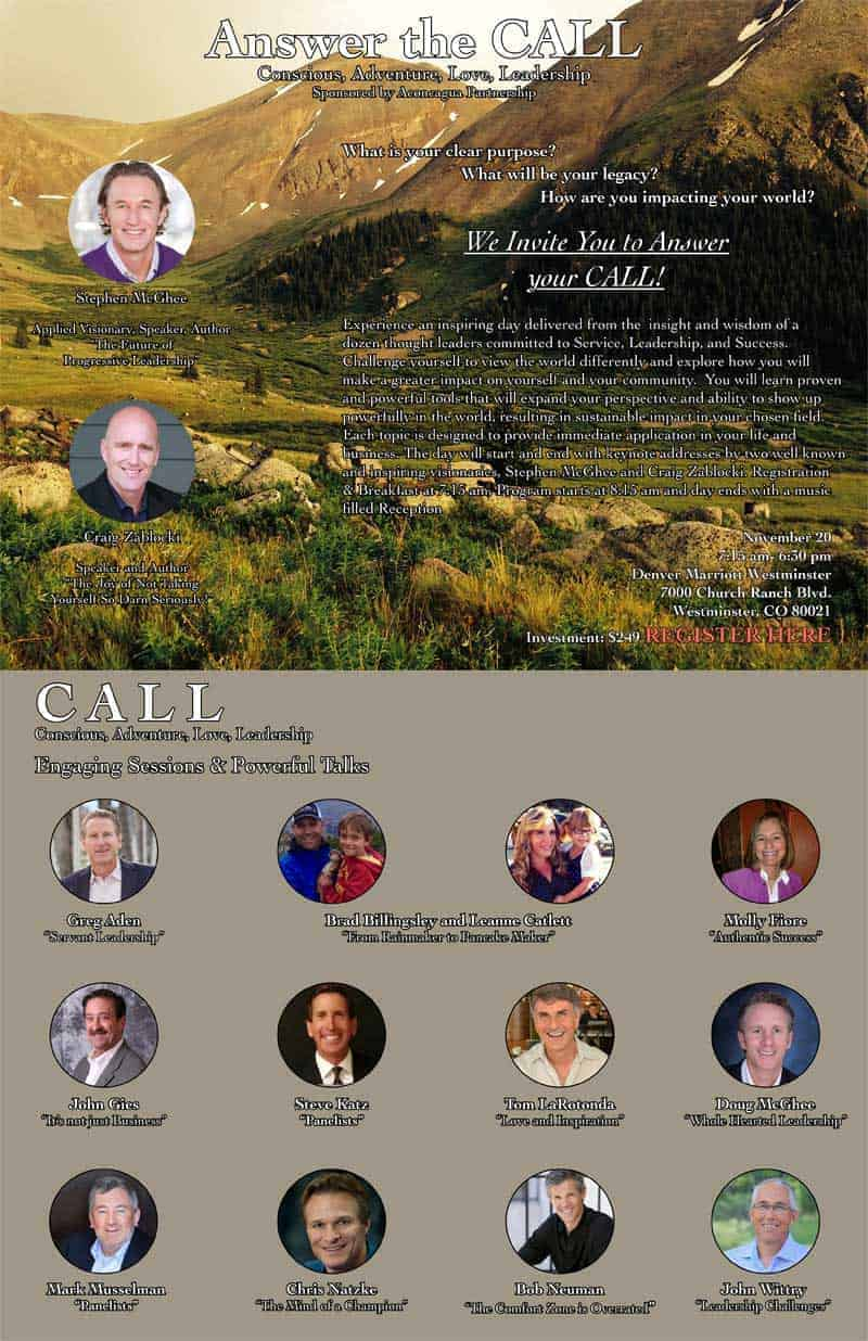 [INVITATION] Join Aden Leadership atAnswer the CALL Annual Conference