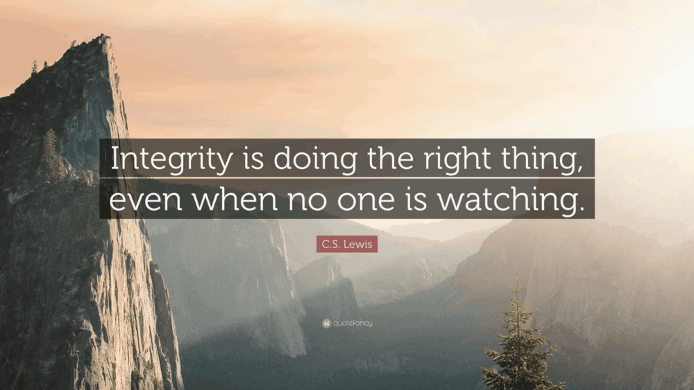 "Leading with Integrity is all about ""I"""
